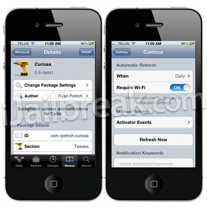 Curiosa beta Cydia Tweak
