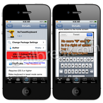 NoTweetKeyboard Cydia Tweak