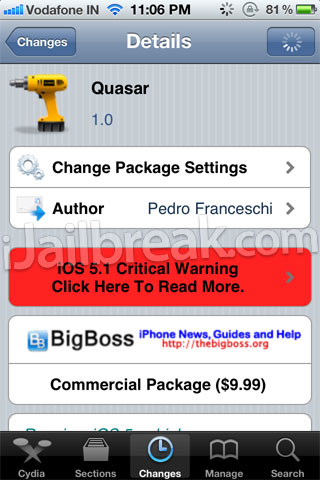 Quasar Cydia Tweak