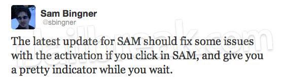 SAM Update
