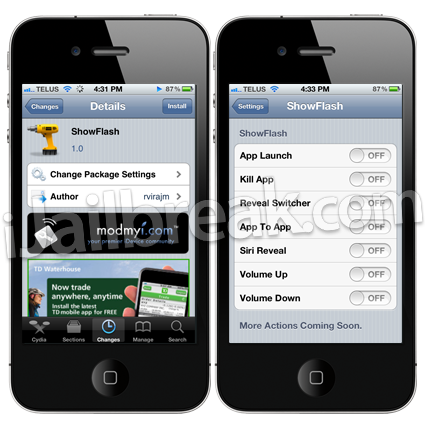 ShowFlash Cydia Tweak