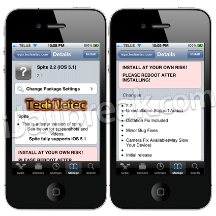Spite iOS 5.1 Cydia Tweak
