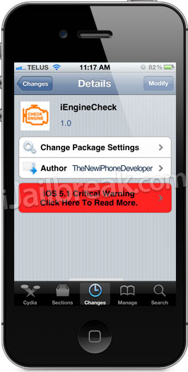 iEngineCheck Cydia App