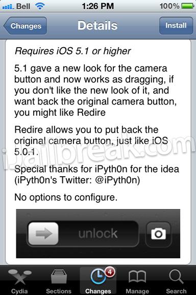 iOS Lockscreen Shortcut