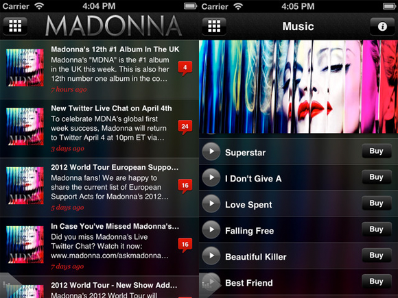 iOS Madonna App Download