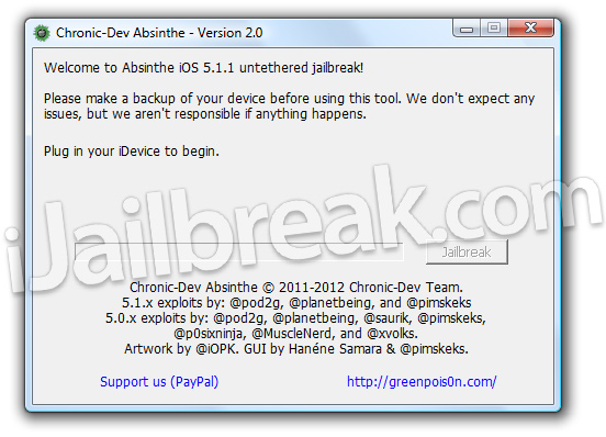 Absinthe 2.0 Windows iOS 5.1.1 Untethered Jailbreak