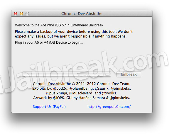 Download Absinthe v2.0 Mac OS X And Windows