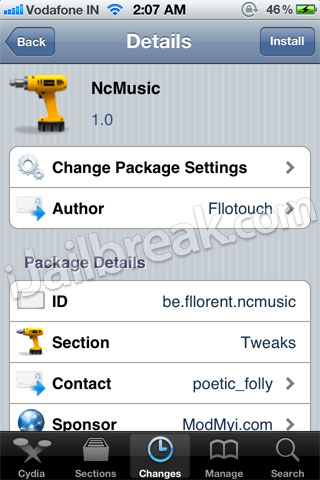 NcMusic Cydia Tweak
