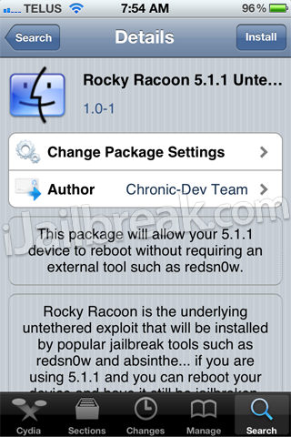 Rocky Racoon 5.1.1 Untether