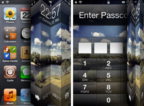 Unfold Cydia tweak