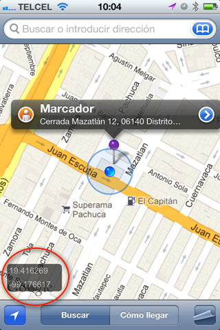 Coordinates For Maps Tweak Show Gps Coordinates On Iphone