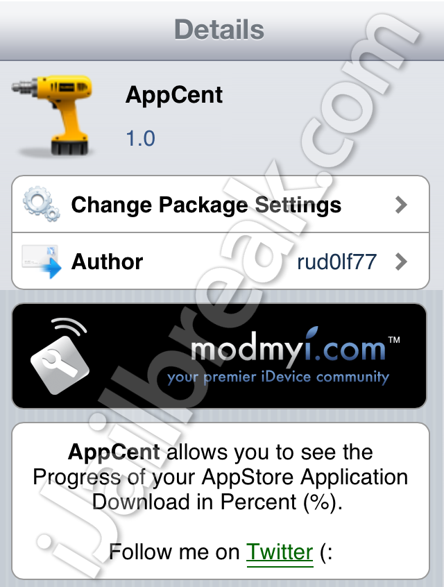 AppCent Cydia Tweak