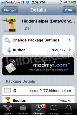 HiddenHelper Cydia Tweak