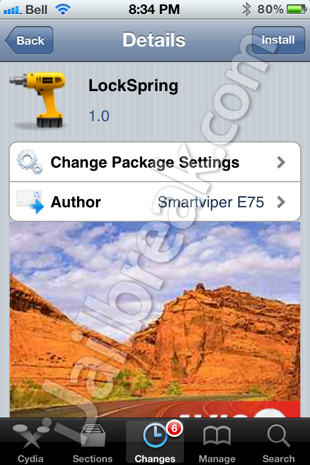 LockSpring Cydia Tweak