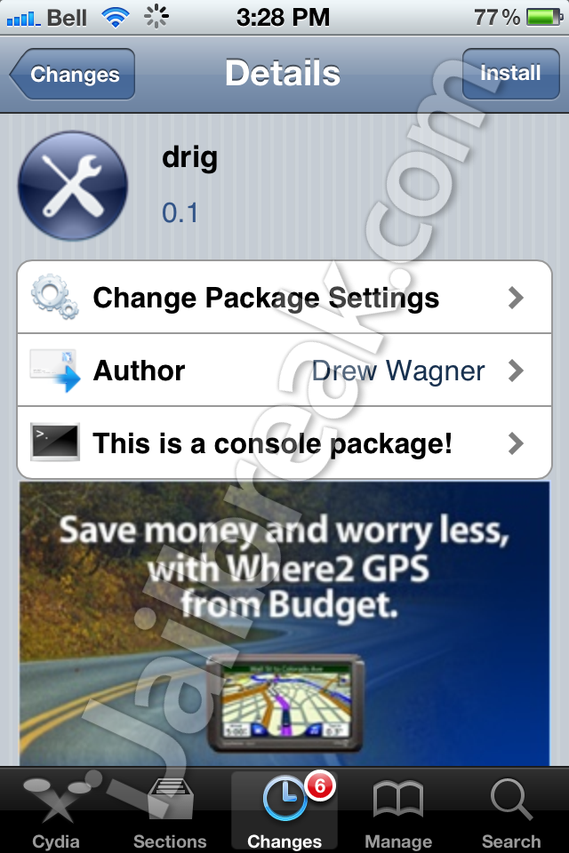 DRIG Cydia Tweak