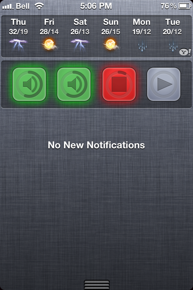 SoundPad for Notification Center Cydia Tweak