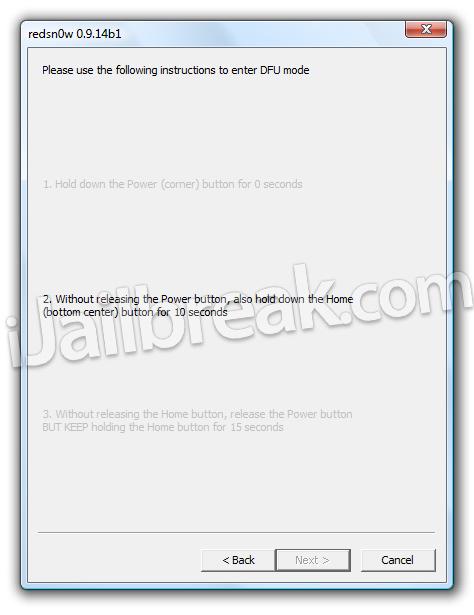 RedSn0w 0.9.14b1 Baseband Downgrade Windows