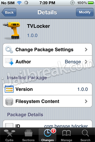 TVLocker iOS Cydia Tweak