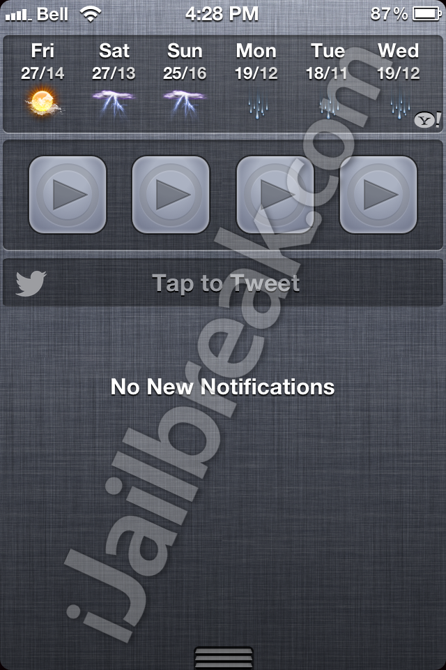 iOS 6 Twitter Widget For Notification Center Cydia Tweak