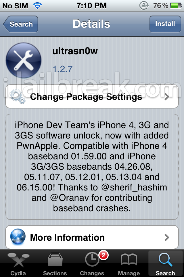 Ultrasn0w 1.2.7 iOS 5.1.1 unlock