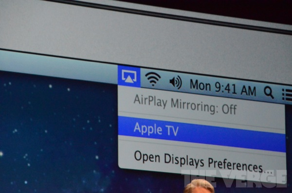 WWDC 2012 Mountain Lion AirPlay
