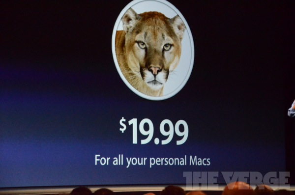 WWDC 2012 Mountain Lion Pricing