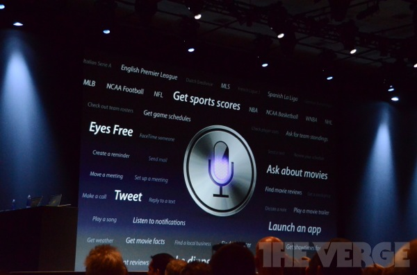 WWDC 2012 Siri overview iOS 6