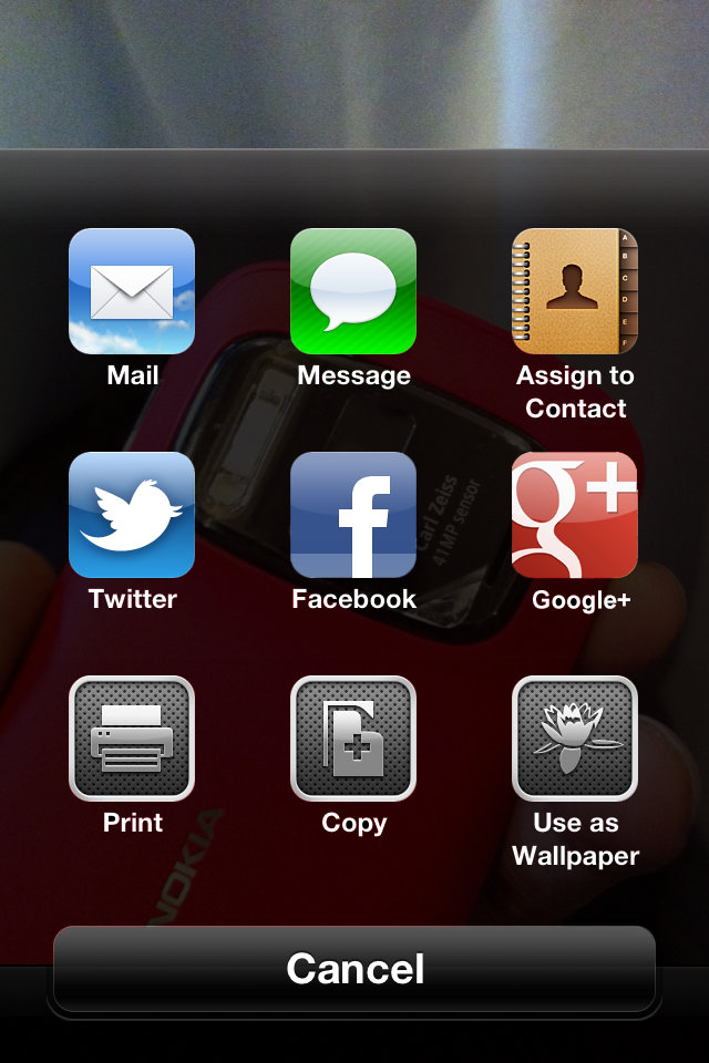 iOS 6 Photos Menu Cydia Tweak