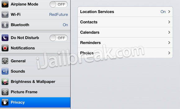 iOS 6 Privacy Settings