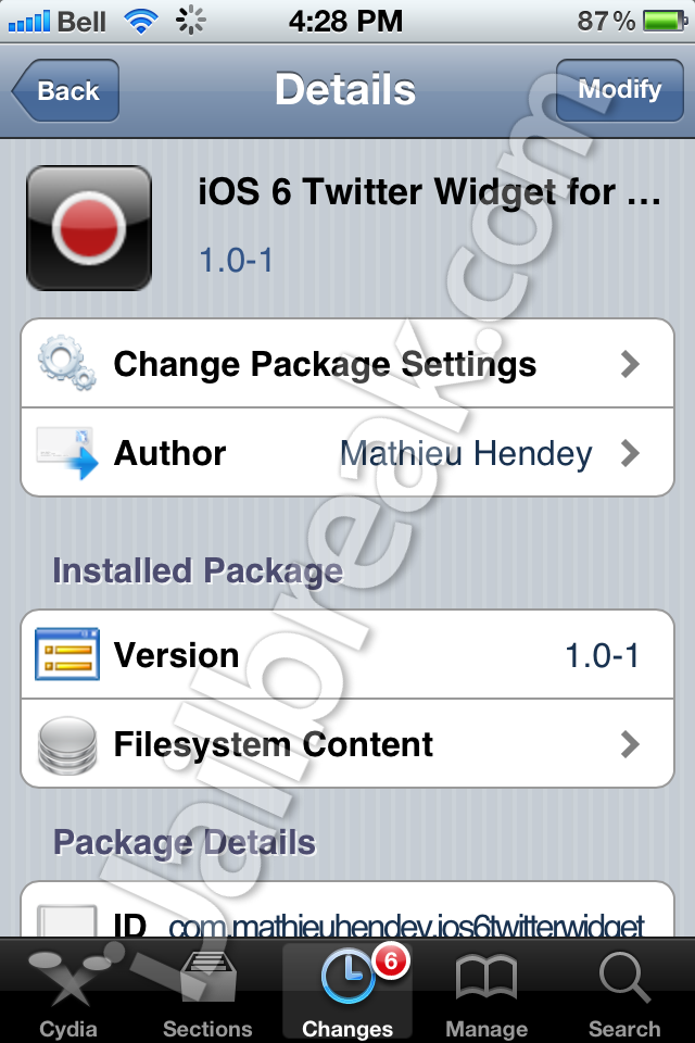 iOS 6 Twitter Widget For Notification Center