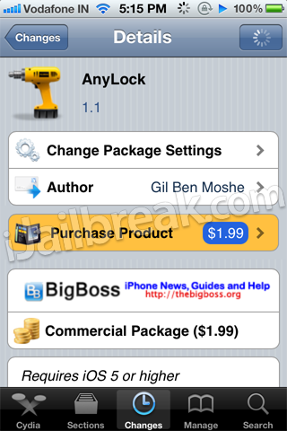 AnyLock Cydia Tweak