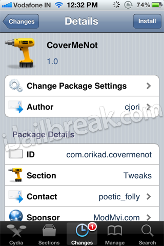 CoverMeNot Cydia Tweak