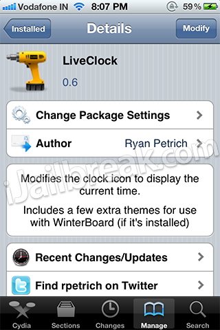 LiveClock 0.6 Cydia Tweak iOS 5