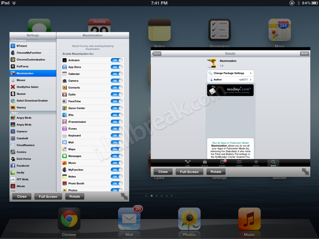 Maximization Cydia Tweak