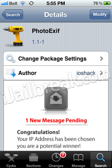 PhotoExif Cydia Tweak