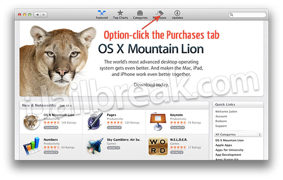 Re-Download OS X 10.7 Mountain Lion Mac App Store