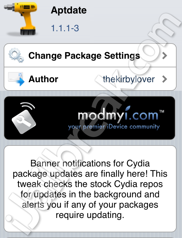 Aptdate Cydia Tweak iOS