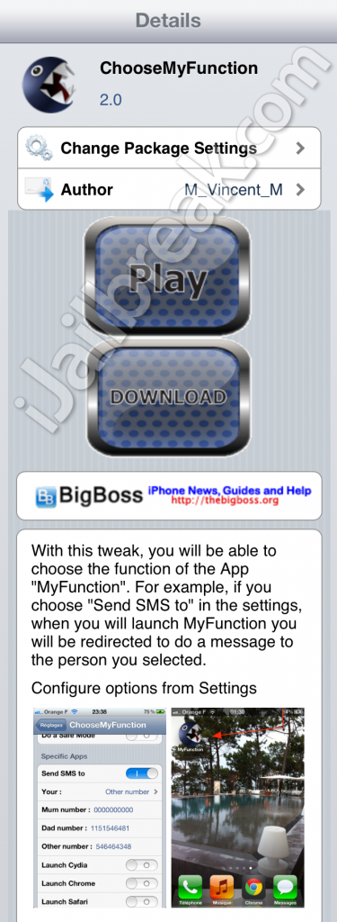ChooseMyFunction Cydia Tweak
