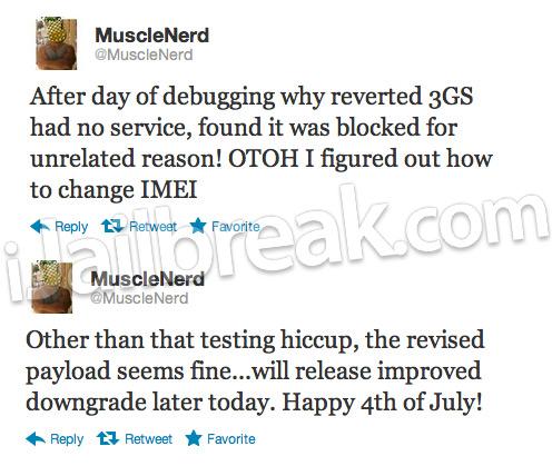 iPhone 3GS Baseband Downgrade Update