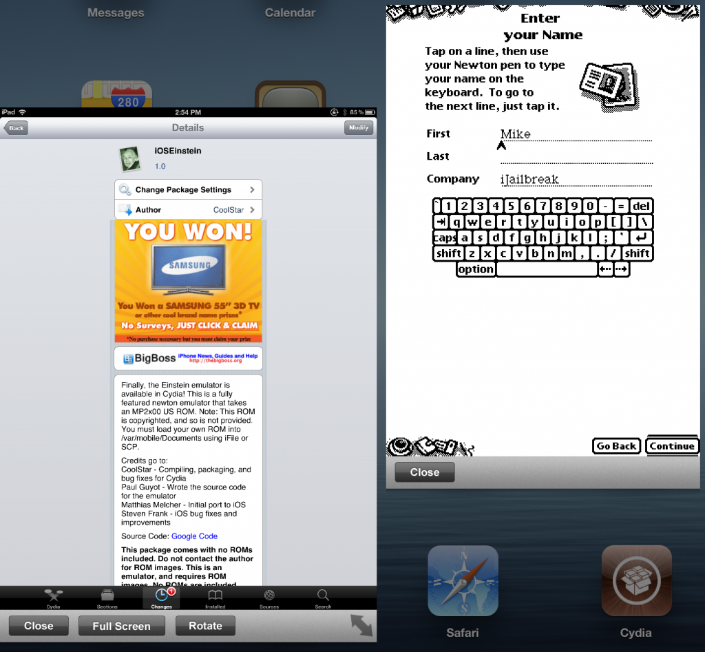 iOSEinstein: Newton Emulator For iPhone, iPad, iPod Touch