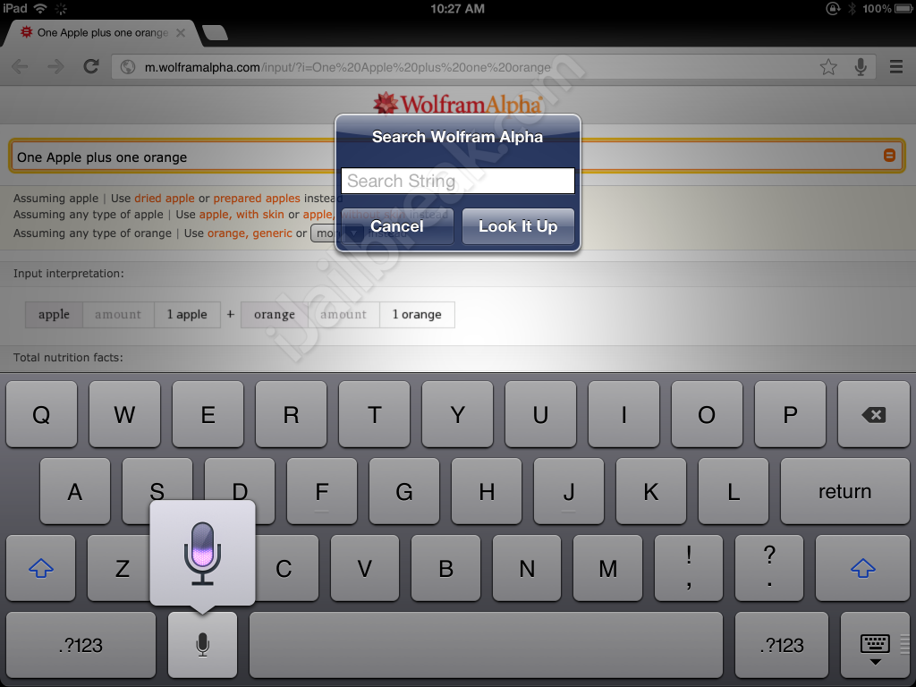 Wolfram Quick Search Cydia Tweak