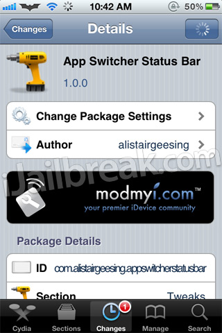 App Switcher Status Bar Cydia Tweak