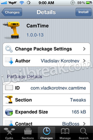 CamTime Cydia Tweak