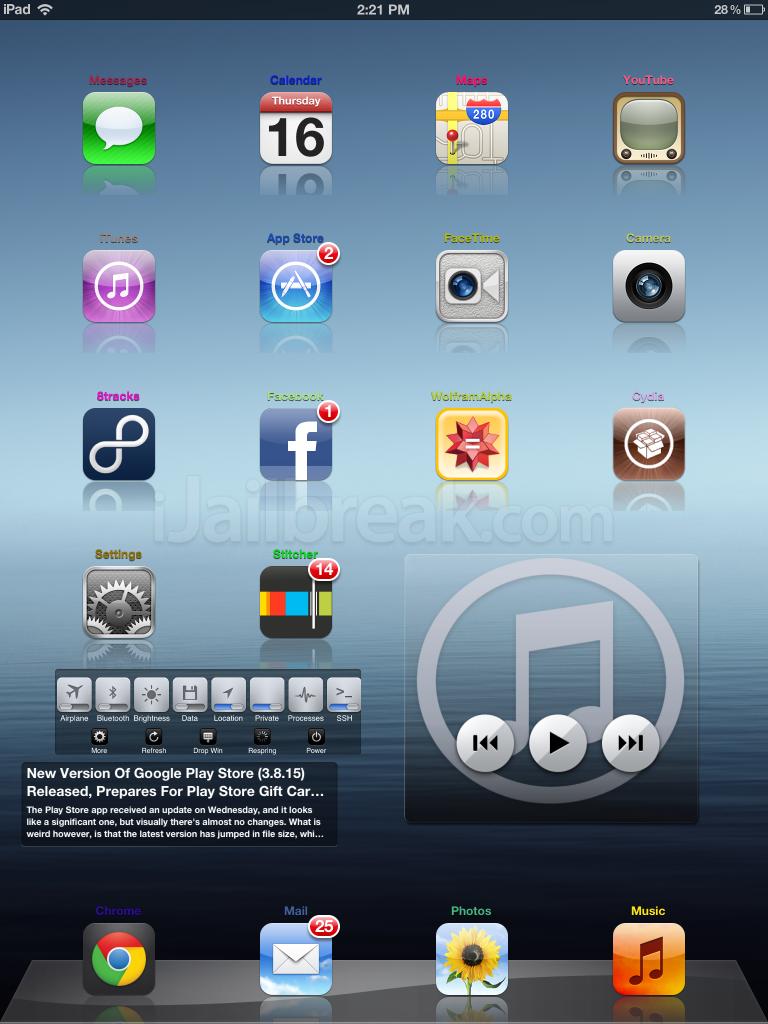Useful Things Cydia Tweak Can Customize iOS SpringBoard On