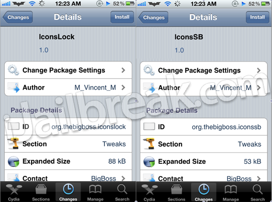IconsLock IconsSB Cydia Tweak