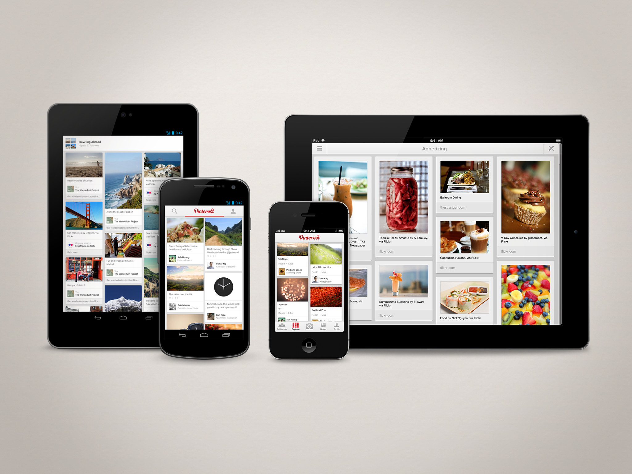 Pinterest v2.0 Released For iPad (iOS) And Android Devices