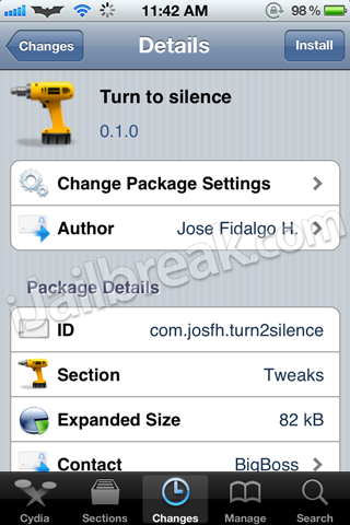 Turn To Silence Cydia Tweak