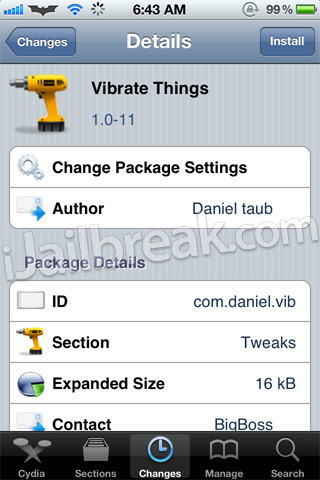 Vibrate Things Cydia Tweak