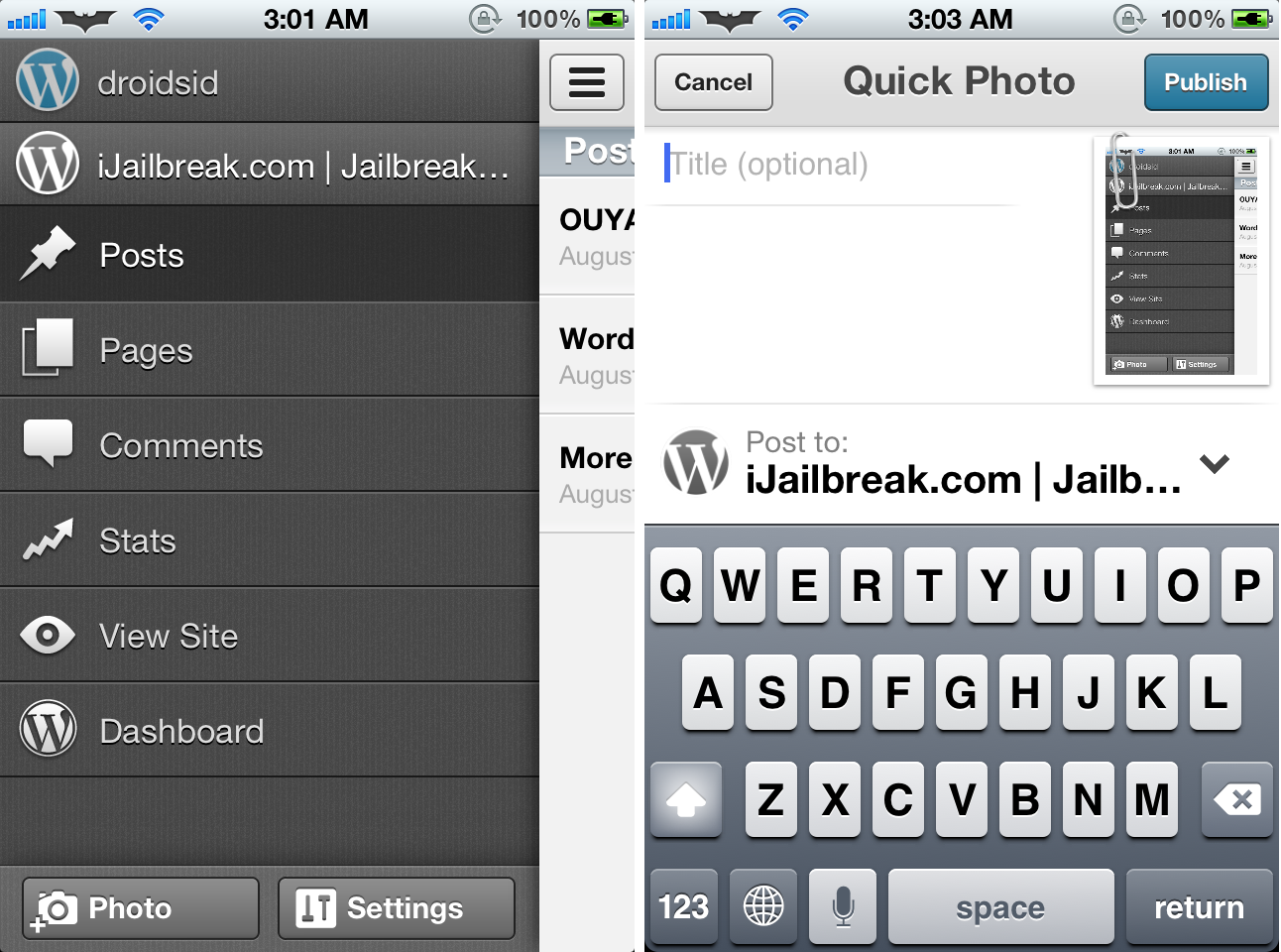 Wordpress For iOS Updated To v3.1 With Major UI Overhaul