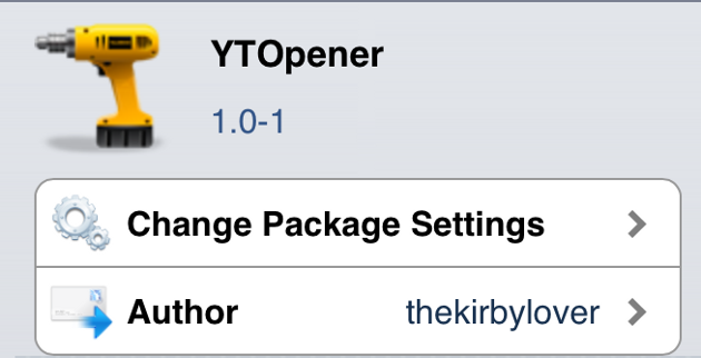YTOpener Cydia Tweak
